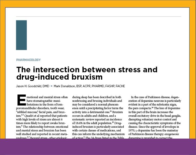Stress and Drug-Induced Bruxism<