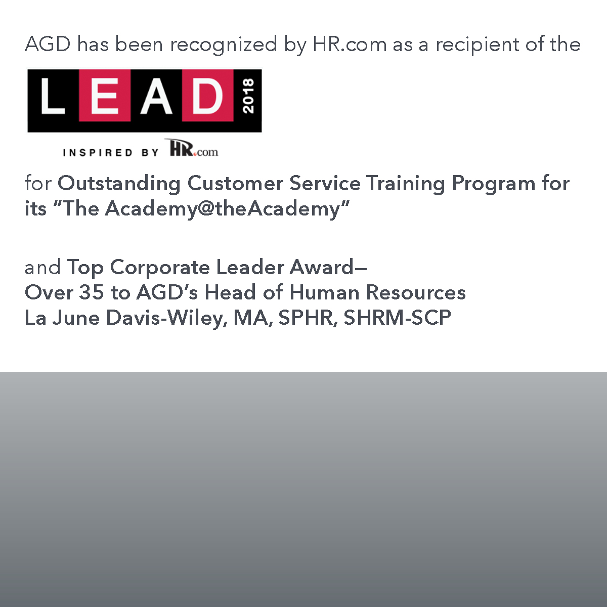 AGD_HR award