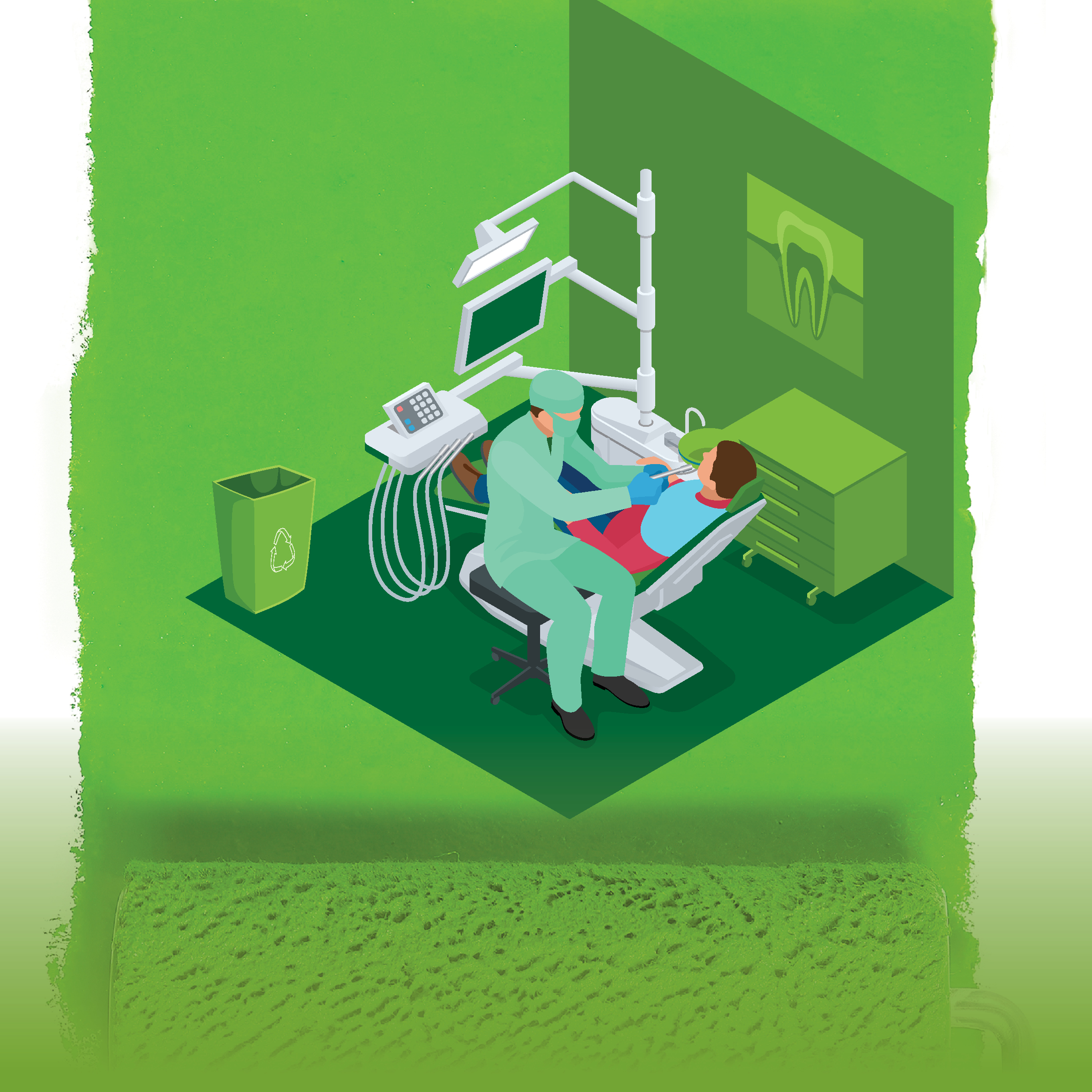 Green Dental Office Graphic